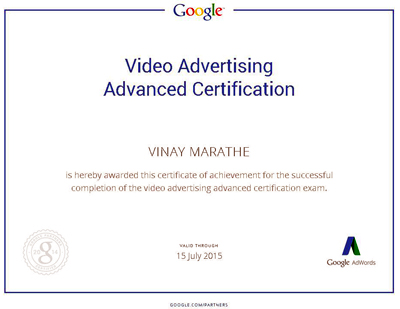 Google AdWords Certification Program : Individually Qualified ...